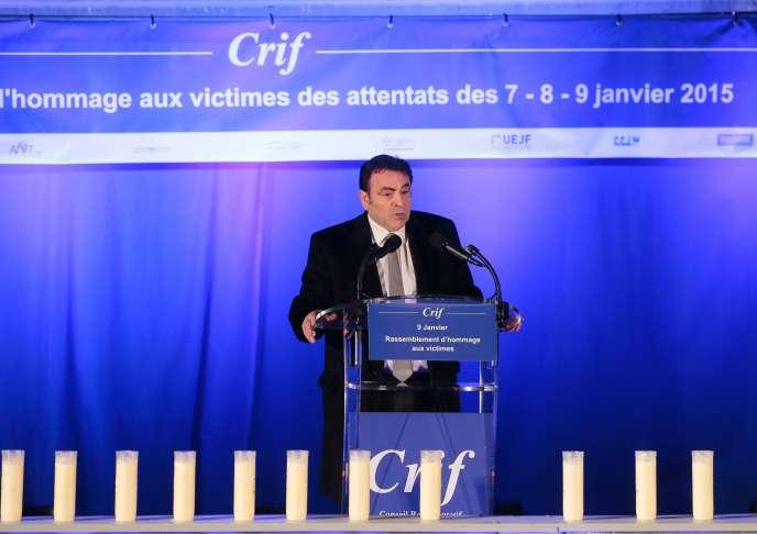 Joël Mergui, président du Consistoire central, à Paris, le 9 janvier.