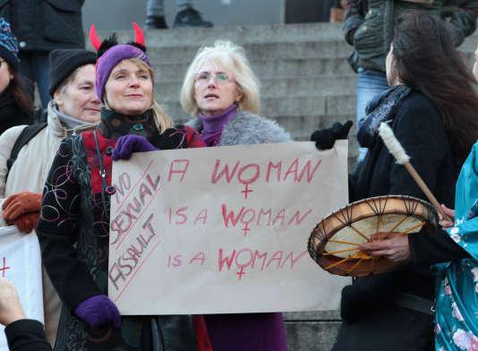 Manifestation contre le sexisme et les agressions sexuelles à Cologne, le 9 janvier.