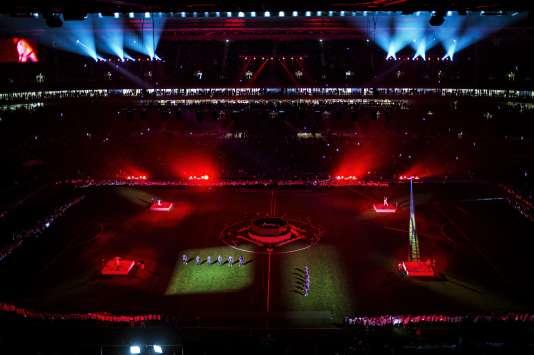 Après le match de l'OL contre Troyes, le 9 janvier 2016, un spectacle se tenait sur la pelouse du nouveau stade Decines-Charpieu.