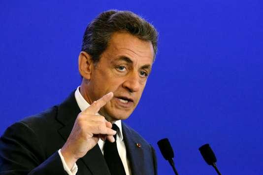 Nicolas Sarkozy, au siège du parti Les Républicains à Paris le 9 janvier.