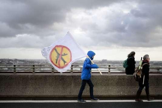 Manifestation à Nantes contre le projet d'aéroport à Notre-Dame-des-Landes, le 9 janvier 2016.