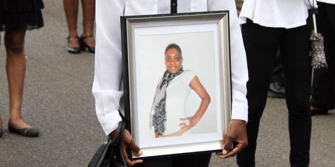La photo de Clarissa Jean-Philippe lors d'un précédent hommage.