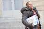 Christiane Taubira, ministre de la justice, quitte l'Elysée après le premier conseil des ministres de l'année, le 4janvier.