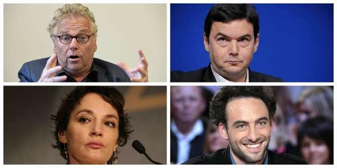 Daniel Cohn-Bendit, Thomas Piketty, Jeanne Balibar et Raphaël Glucksmann.