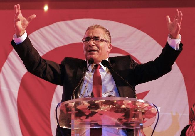 Mohsen Marzouk, ex-secrétaire général de Nidaa Tounès, le 10 janvier 2016 à Tunis.