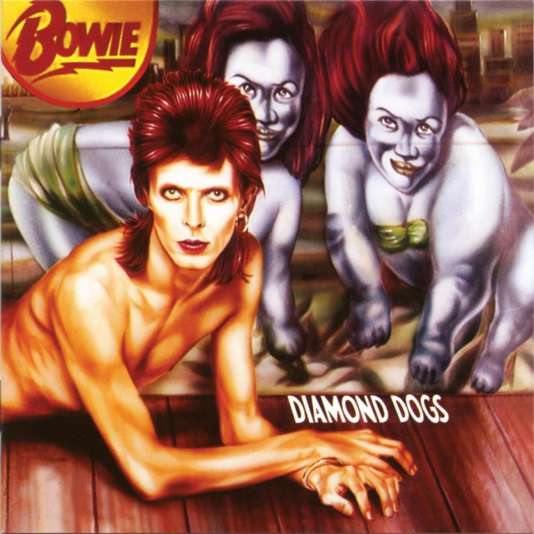 "La pochette de l'album ""Diamond Dogs"" (1974)."