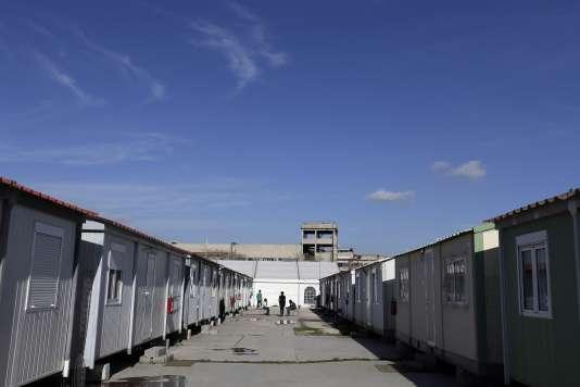 Dans le camp d'Elaionas, dans la banlieue d'Athènes, en janvier.