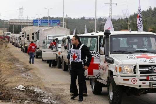 Les premiers camions d'aide humanitaire sont entrés lundi 11 janvier à Madaya.