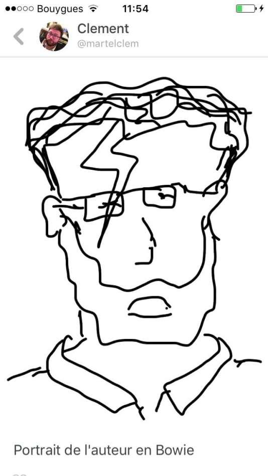 """Tentative de dessin avec l'outil """"Draw""""."""