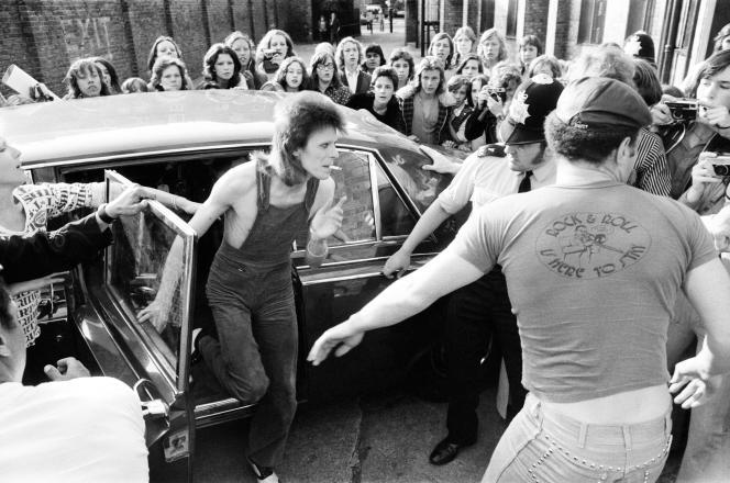 David Bowie en 1973, à Londres.