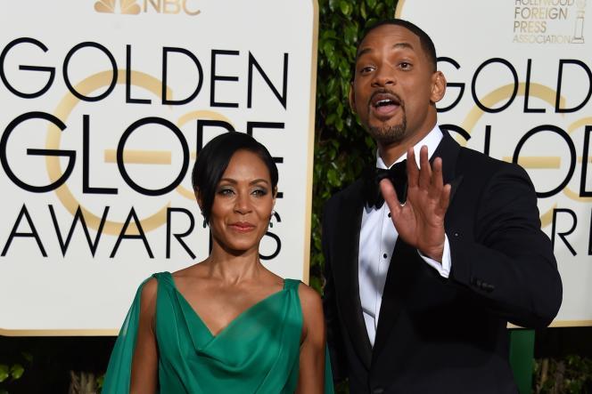 Jada Pinkett Smith et Will Smith lors de la 73e cérémonie des Golden Globes à Beverly Hills (Californie), le 10 janvier 2016.