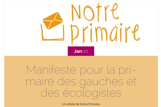 Capture d'écran du site notreprimaire.fr le 11 janvier.