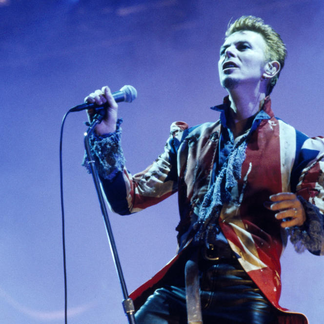 David Bowie à Wembley à Londres en 1995.