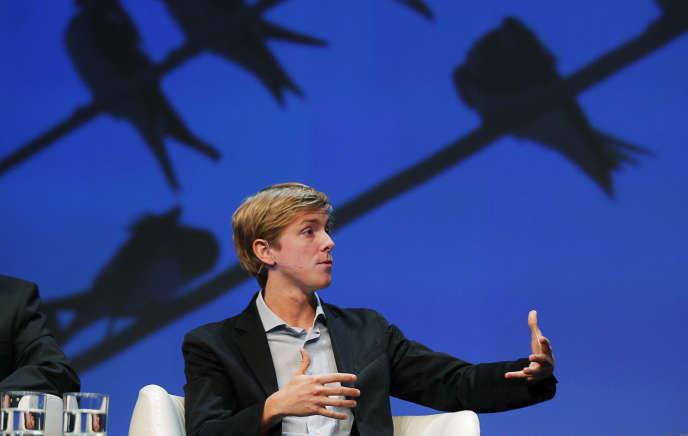 Chris Hughes, lors d'une conférence à Boston (Massachusetts), en 2010.