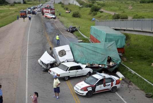 L'accident est survenu mardi 12 janvier au matin sur une route de la province de Cordoba.