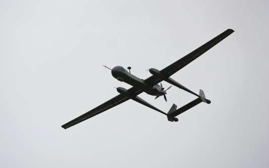 Un Heron TP, le plus grand drone utilisé par l'armée israélienne, en 2010.