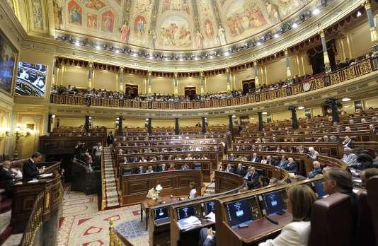 Le Parlement de Madrid, le 13 janvier.