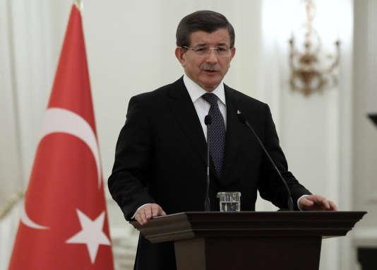 Le premier ministre turc, Ahmet Davutoglu, à Ankara, le 12 janvier.