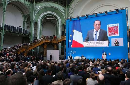 Le président Hollande a lancé mardi 12 janvier les célébrations du bicentenaire de la Caisse des dépôts et consignations.