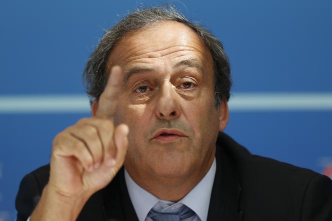 Michel Platini en 2015 à Monaco.