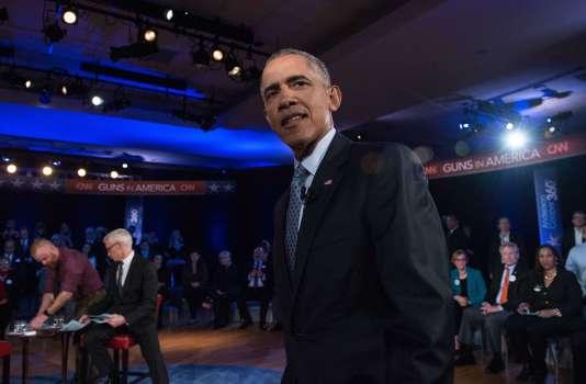 Barack Obama à Fairfax en Virginie le 7 janvier 2016.