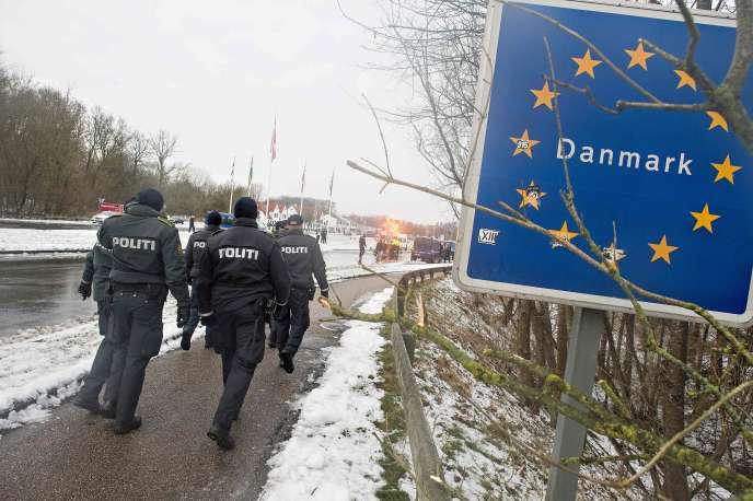 A la frontière entre le Danemark et l'Allemagne, le 9 janvier.