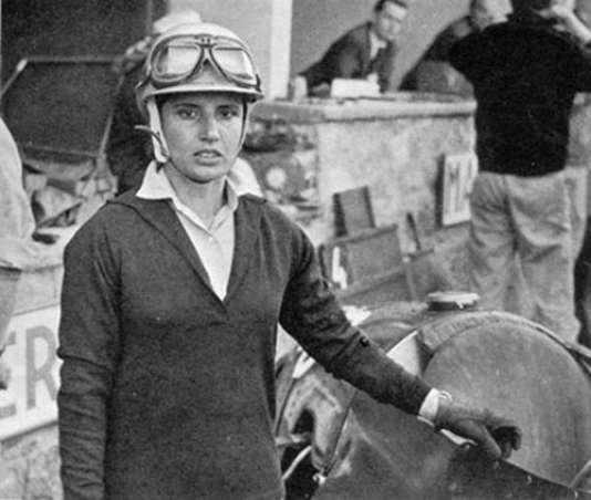 La pilote italienne Maria Teresa de Filipis (11 novembre 1926-9 janvier 2016).