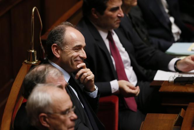 Jean-François Copé à l'Assemblée Nationale le 12 janvier 2016 à Paris.