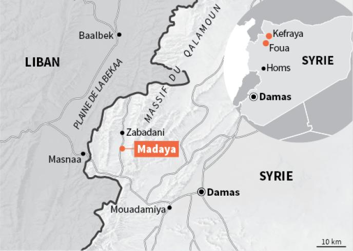 Carte de localisation de Madaya.