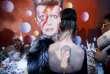 Recueillement à Brixton, dans le sud de Londres, devant un portrait de Bowie, le 11 janvier 2016.