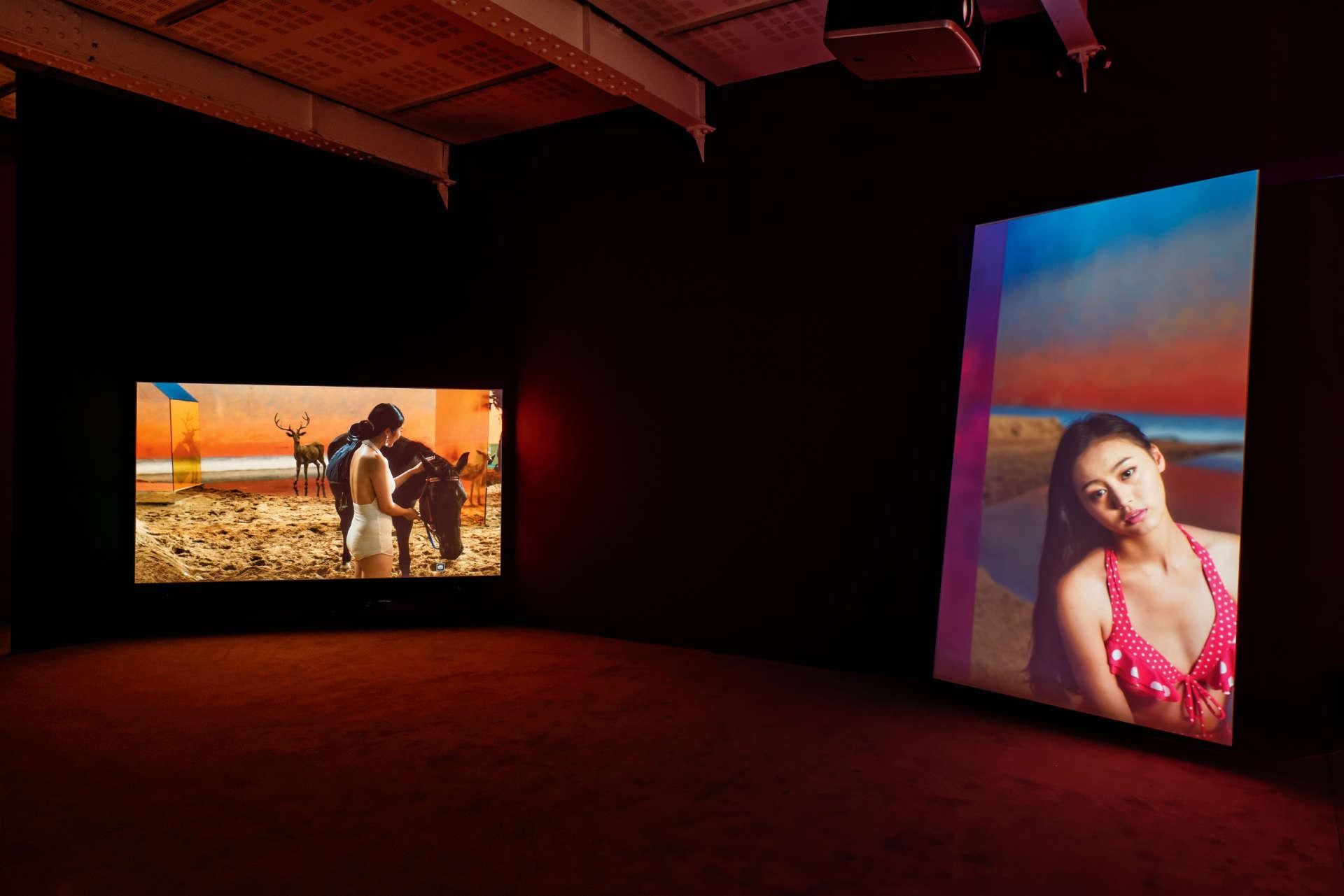 "Installation vidéo ""The Coloured Sky: New Women II"" ( 2014), de Yang Fudong."