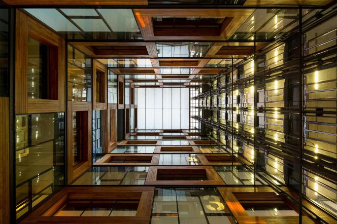 Le centre de l'innovation à Santiago, au Chili, réalisé par Alejandro Aravena.