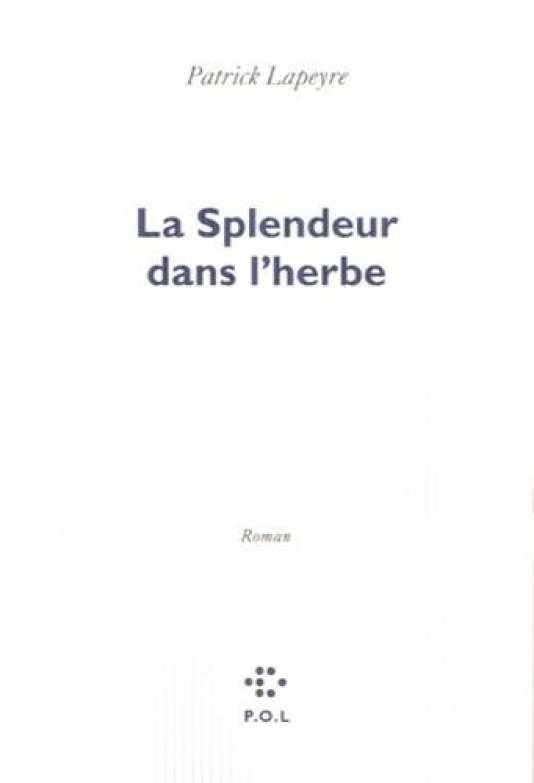 """Première de couverture du livre """"La Splendeur dans l'herbe"""" de Patrick Lapeyre."""