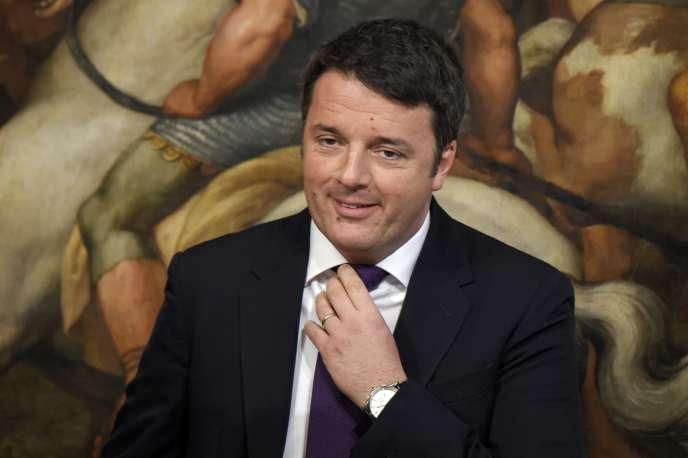 Matteo Renzi au palais Chigi, à Rome, le 13 janvier.