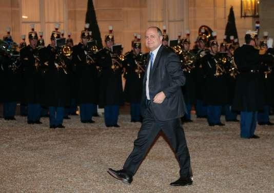 Le président du groupe PS à l'Assemblée, Bruno Le Roux,  le 13 janvier 2016 à l'Elysée.