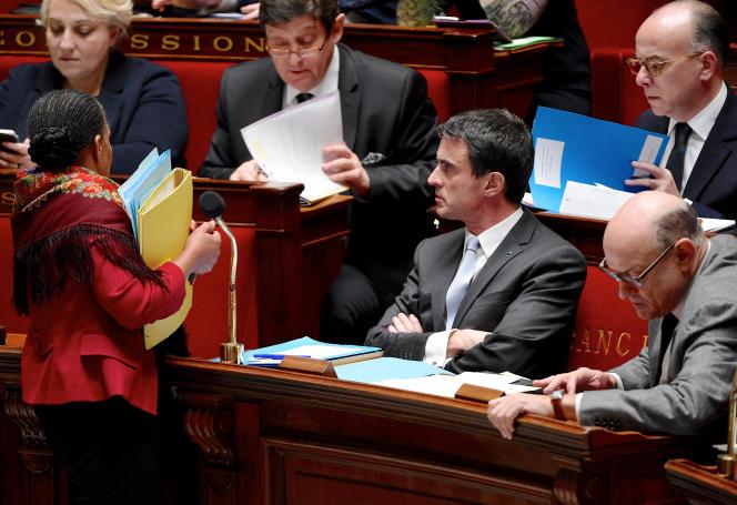 Lors de la séance des questions au gouvernement, à l'Assemblée nationale, mardi 12janvier.