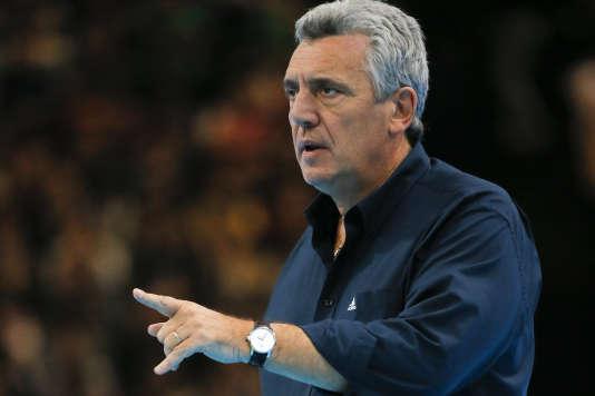 Claude Onesta, le 10 janvier, à l'AccorHotels Arena, à Paris.