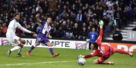Le but de Wissam Ben Yedder face à Marseille, le 13 janvier à Toulouse.