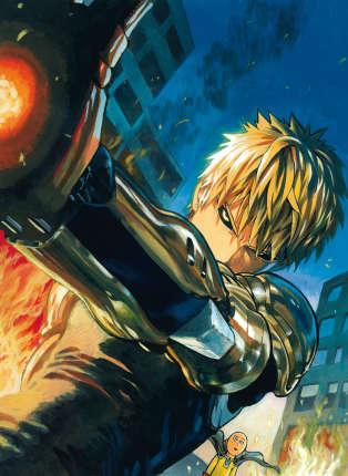 Genos, le cyborg acolyte de One-Punch Man. Le super-héros, blasé, va néanmoins avoir un disciple.