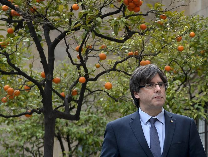 Carles Puigdemont à Barcelone, le 14 janvier.