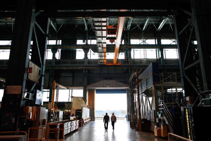 Site de fabrication de turbines Alstom, à Belfort.