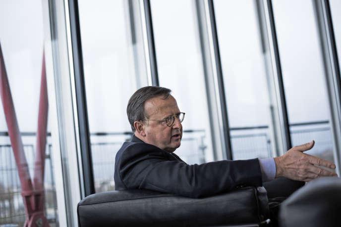 Guido Raimondi, président de la Cour européenne des droits de l'homme, dans son bureau à Strasbourg, le 11 janvier.