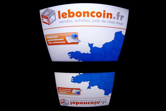 Le site Leboncoin.fr affiché sur une tablette, à Paris en décembre 2012.