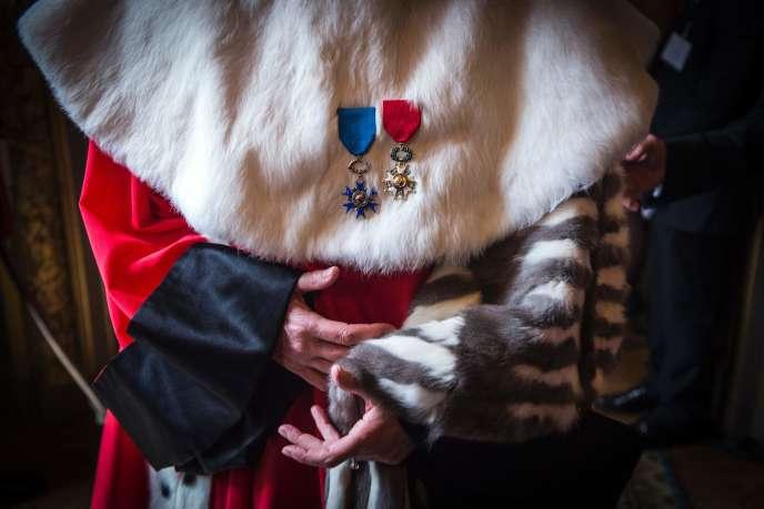 Lors de la cérémonie des vœux de nouvelle année à la Cour de cassation, à Paris, le 14 janvier.