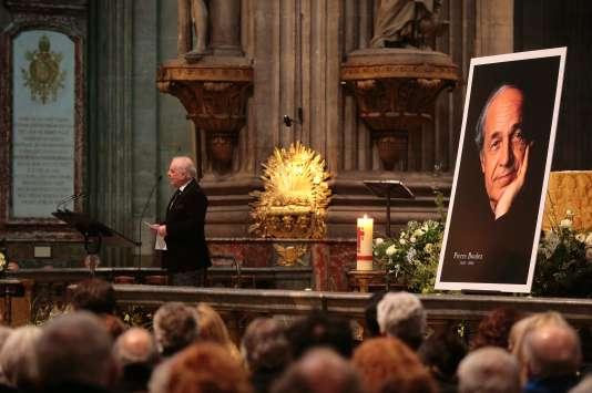 Le musicien Daniel Barenboim, jeudi 14 janvier, à l'église Saint-Sulpice, lors d'un hommage à Pierre Boulez.