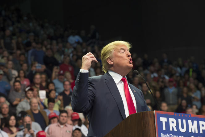 Lors d'un meeting du candidat républicain Donald Trump à Pensacola (Floride), le 13 janvier.
