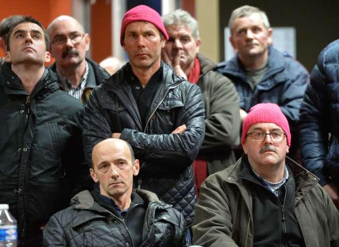 Jeudi 14 janvier à Plérin (Côtes-d'Armor), les éleveurs de porc bretons se sont renommés les