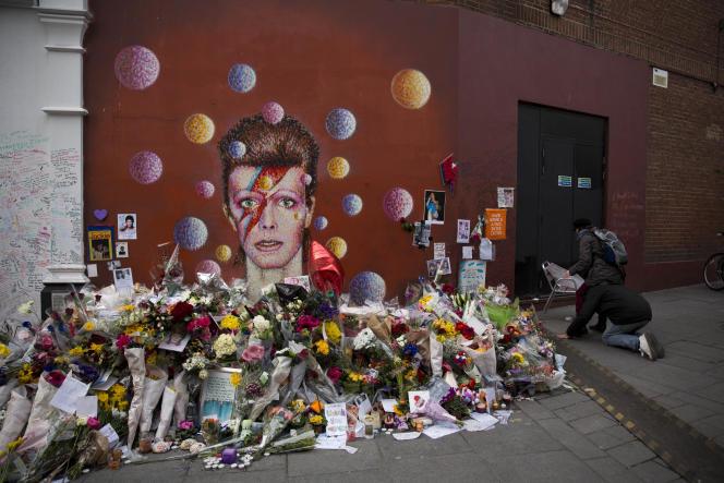 Une peinture murale de l'artiste Jimmy C à Brixton dans le sud de Londres, le 14 janvier.