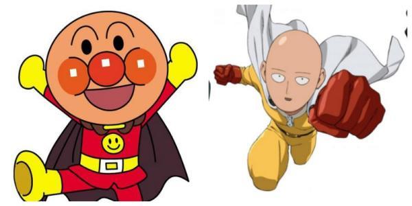 Anpanman, le héros de dessin animé pour enfants, fait de pains aux haricots, et One-Punch Man, l'homme qui met des pains dans les dents.