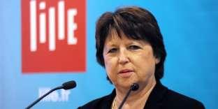 Martine Aubry, à Lille, en janvier 2016.